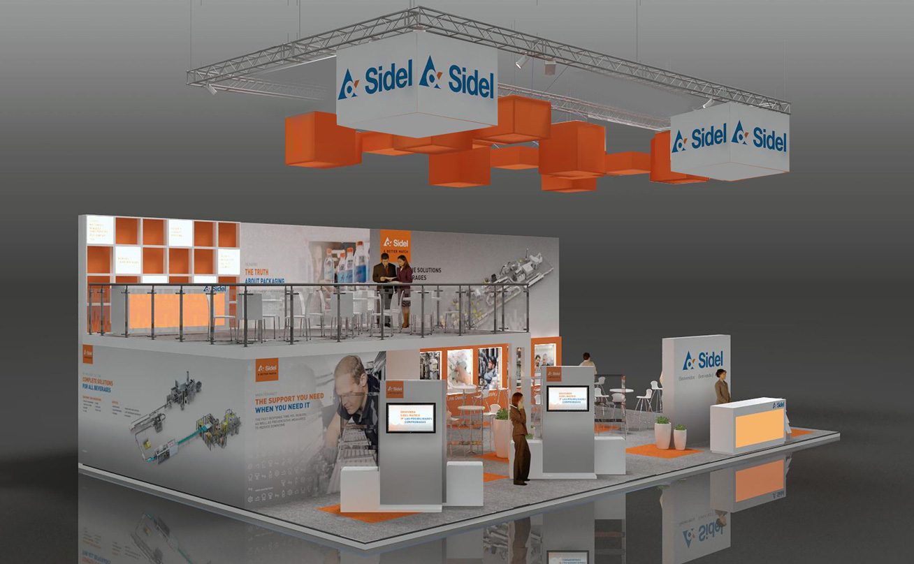 Expo Pack Mexico Sidel booth