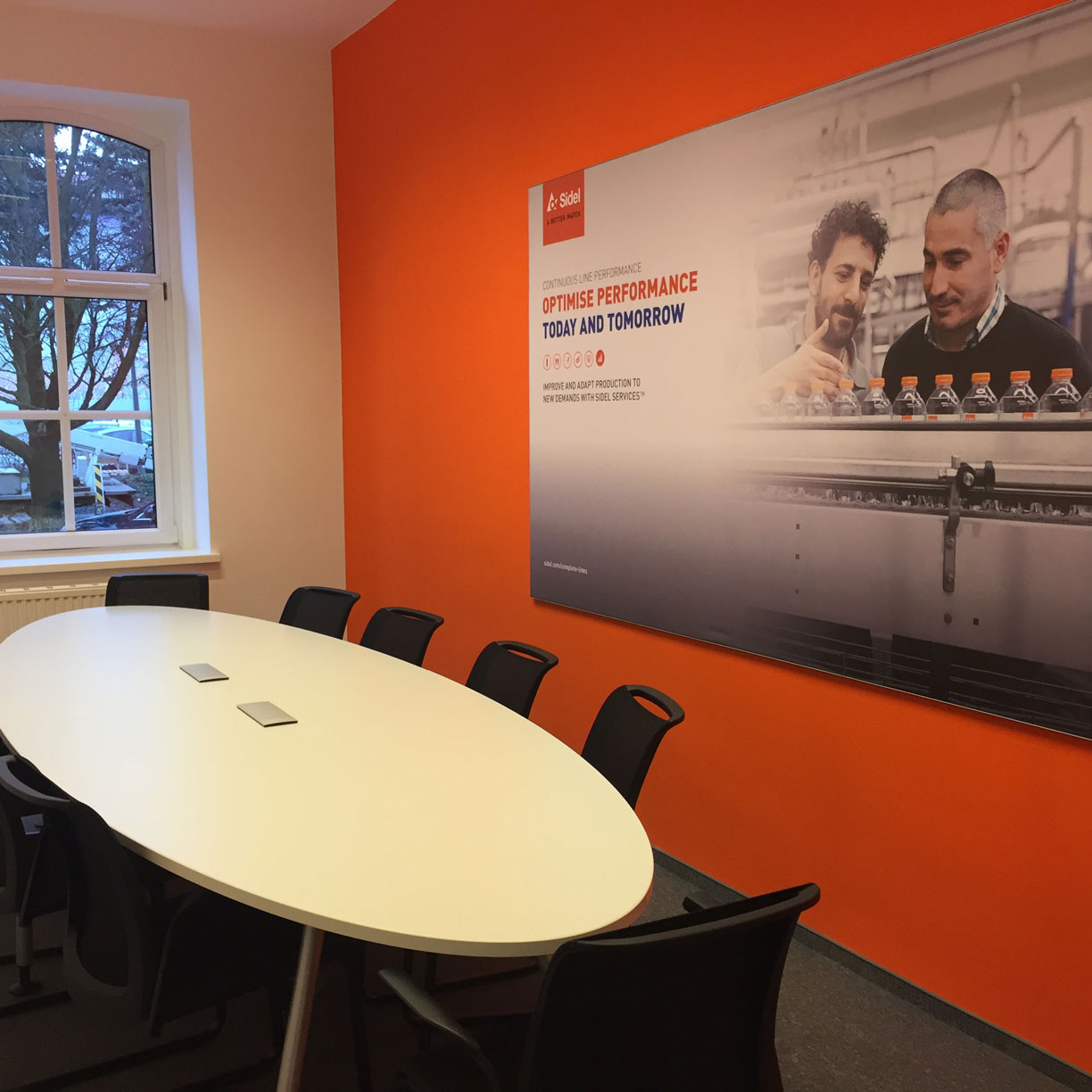 Sidel polish new office meeting room
