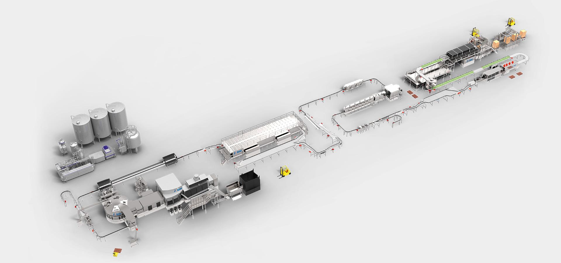 Complete Lines Ladder Logic Diagram For Bottle Filling System Solution Including Tetra Pak Processing Equipment